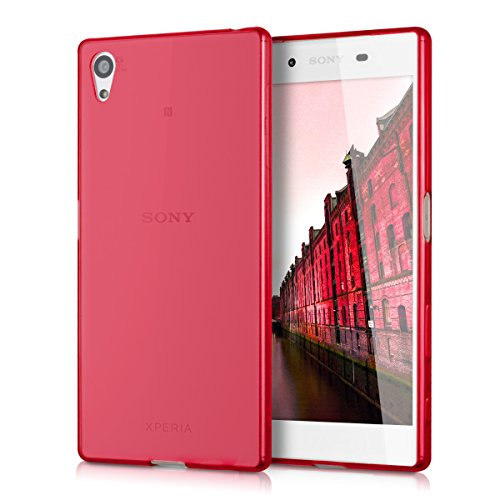 kwmobile 1x Funda Compatible con Sony Xperia Z5 - Case Ultra Slim de TPU Silicona - Cover en Rojo