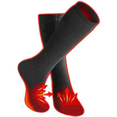GRXIN Calentadores De Pies Calcetines Térmicos,con 3 Ajustes De Calcetines Térmicos,Pies Calcetines De Esquí Zapatillas De Deporte Calcetines De Algodón para Varios Deportes Al Aire Libre