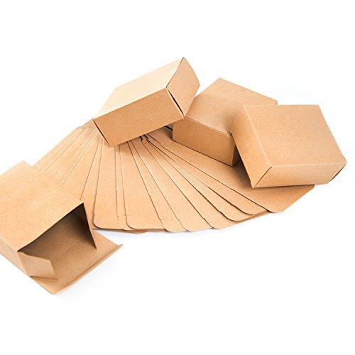 Logbuch-Verlag 24 kleine Kraftpapier Geschenkboxen 10 x 4 x 8 cm Geschenkschachteln braun natur - Verpackung Give-Away Weihnachten Geburtstag