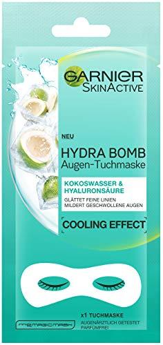 Garnier Augen-Tuchmaske Kokoswasser + Hyaluronsäurem, 5er Pack (5 x 1 Stück)