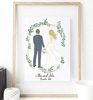 Personalized Couple Wedding, Couple Portrait, Couple illustration, Gift ideas, Custom portrait, Family portrait, personalized portrait, Wedding gift