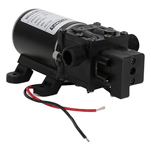 Bomba de diafragma inteligente automática, interruptor de presión inteligente de 60 ℃ DC12V Agua Diafragma auto fundido de hierro, acero