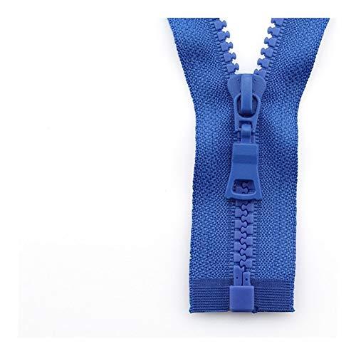 Linyuex Zipper 5# 3pcs Open-end Auto Lock ECO Colorful Plastic Resin Zipper For Clothes Garment (Color : 1, Size : 55 cm)