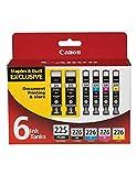 Canon Pgi-225pgbk & Cli-226 Black/cyan/mag/yellow Combo Ink 6-pak