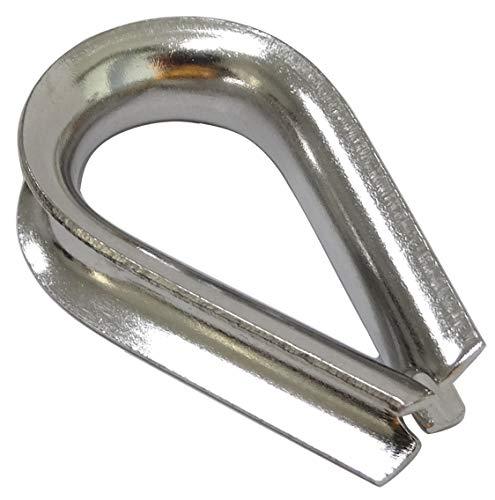 Aerzetix kabelschoenen, hart, gesp voor kabels Ø 8 mm, staal, A4, C43573