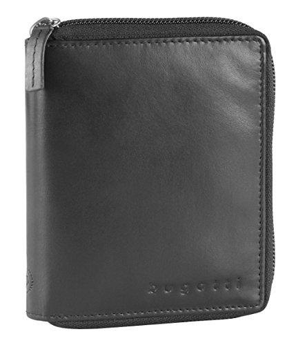Bugatti Primo RFID Reißverschluss-Börse, (8 CC), schwarz