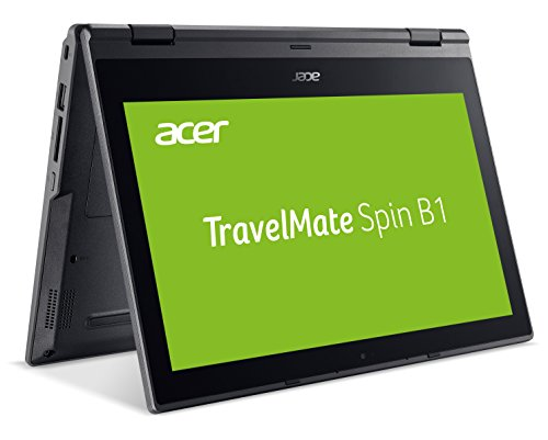 Acer TravelMate Spin B1 (TMB118-G2-RN-P5WE) 29,5 cm (11,6 Zoll Multi-Touch Full-HD IPS) Business-Convertible (Intel Pentium N5000, 8 GB RAM, 256 GB SSD, Intel UHD, Win 10 Pro) schwarz