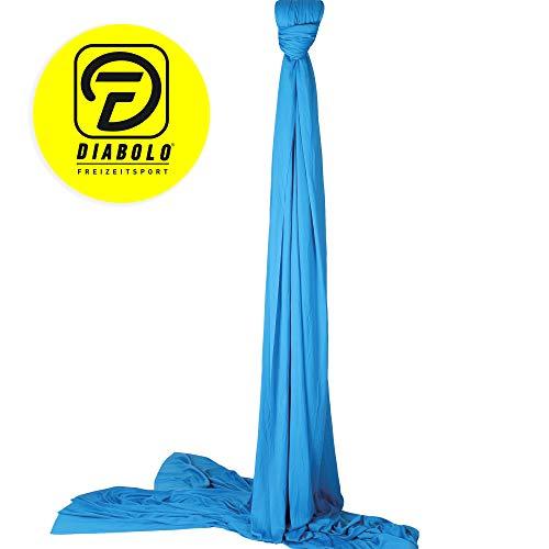 Diabolo Freizeitsport Vertikaltuch 6m in blau + praktischen Baumwollbeutel zur Aufbewahrung + Aufkleber I Geeignet für ca. 2-3m Deckenhöhe I Hält Internationale Standards ein I strapazierfähig und waschbar I Artistik I Aerial Yoga I Akrobatik