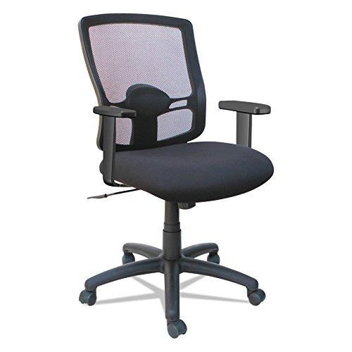 Alera Etros Series Mesh Mid-Back Petite Swivel/Tilt Chair, Black