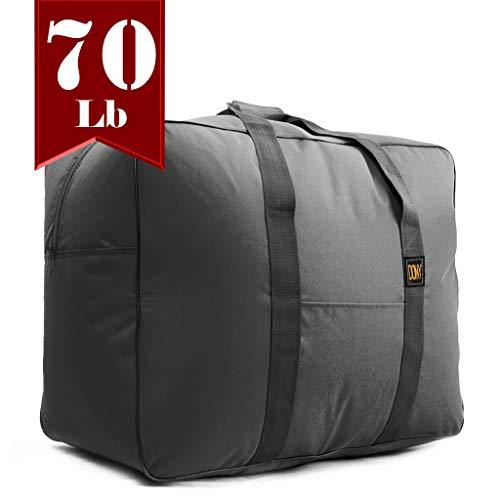 DONY Square Duffle Travel Organizer Bag 70 Lb Capcity Black