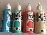 Hs24store Window Color 80ml Glitzerfarben 4er Set