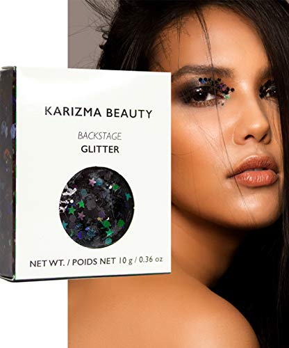 Klobiger Glitzer in Backstage // Karizma Beauty Festival Glitter Gesicht glitzern Karosserie Haar...