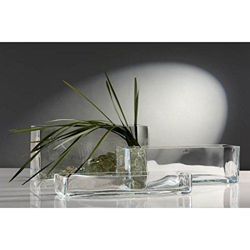 Sandra Rich Glasschale, Dekoschale Jadiniere Rectangular 40x12cm, H 6,5cm eckig