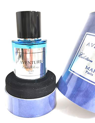 AVENTURE, eau de parfum, MAH, 50ml, fabriqué en France