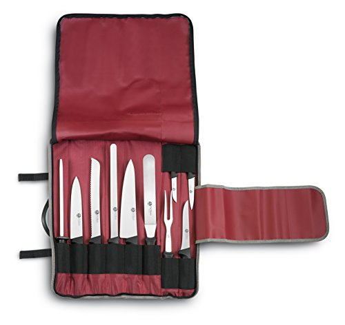 Ausonia - 96254 Astuccio da cuoco 10 pz, 9 coltelli chef master e 1 affilatoio