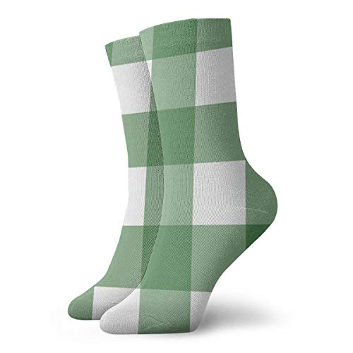 Elsaone Lässige Unisex-Socken kariert Buffalo Beste Besatz Socken Antirutschsocken Fantasie Socken 30 cm