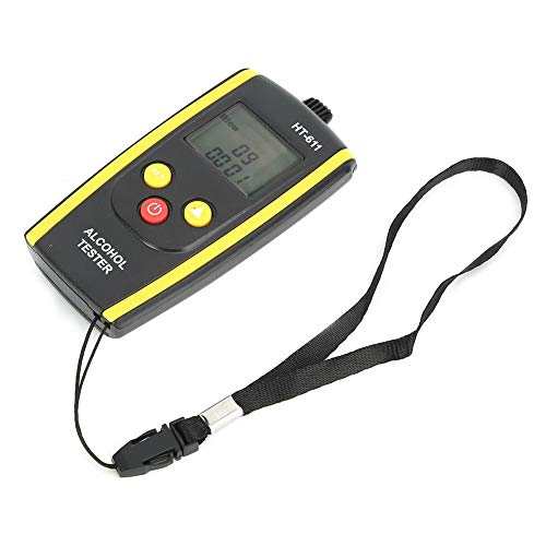 HT-611 Tester digitale per alcol, rilevatore di alito di alcol Rilevatore di alcol digitale Etilometro portatile LCD portatile professionale Retroilluminazione digitale Alito di alcool Etilometro Test