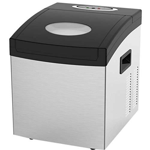 JNYB Eiswürfelmaschine, 1,5-Liter-Tank-Eismaschine Absolut, 25 kg / 24 h Tragbare elektrische Eiswürfelmaschine mit Thekenoberseite für Bar Milk Tea Shop Edelstahl
