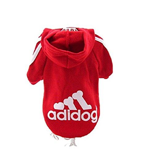 JUYUAN-EU Adidog HundeKleidung Warm Hoodies Mantel Hundejacke Hündchen Pullover Mantel Haustier Welpen T-Shirt