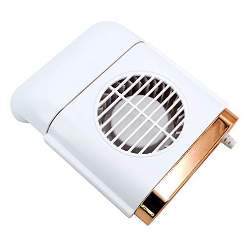 Mobile KlimageräTe, AutolüFter Mit Hohem Luftstrom Ventilator Auto Mini LuftküHler Auto Air Cooler Tragbare Klimaanlage Usb-Ventilatoren Universal, 3 KüHlstufen, Auto Sitz KüHl, Weiß