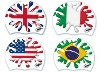EFFEA SPORT Cuffie Flags in Silicone Senior, EF1137 (Brasile)