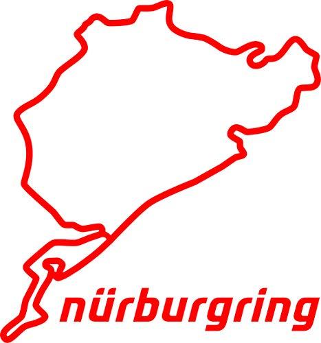 Aufkleber Nürburgring 12cm rot