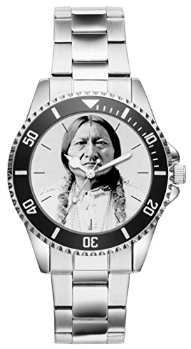 Sitting Bull Indianer Geschenk Artikel Idee Fan Uhr 20201