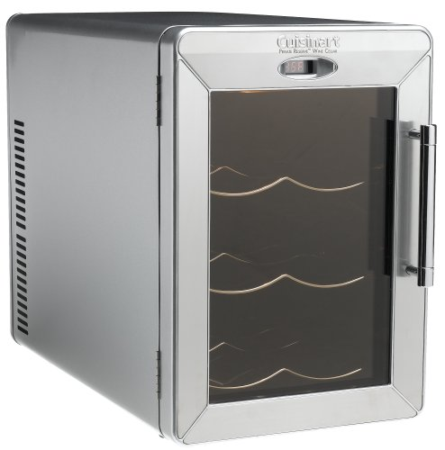 Cuisinart CWC-600 Private Reserve 6-Bottle Stainless-Steel Countertop Wine Cellar
