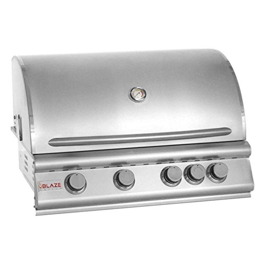 32' 4-Burner Built-In Gas Grill with Rear Infrared Burner Gas Type: Natural