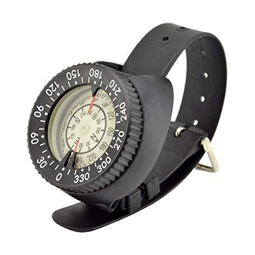 LKNJLL Survival-Faust-Hilfsmittel-Handgelenk-Kompass, hohe Genauigkeit IP67 wasserdicht staubdichte leuchtende Uhr Kompaß for Tauchen Wandern Outdoor-Aktivitäten