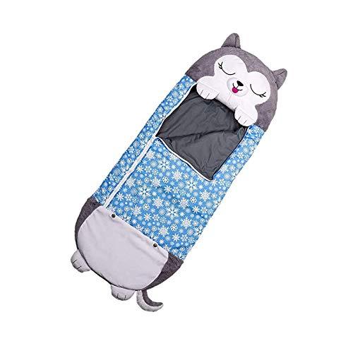 MEILEQI Divertido Bolso para Dormir Animal Plegable Niños Suave Lindo Pillow Bebé Invierno Swaddle Manta 2 en 1 Camping Viajar al Aire Libre, C (Color : D)