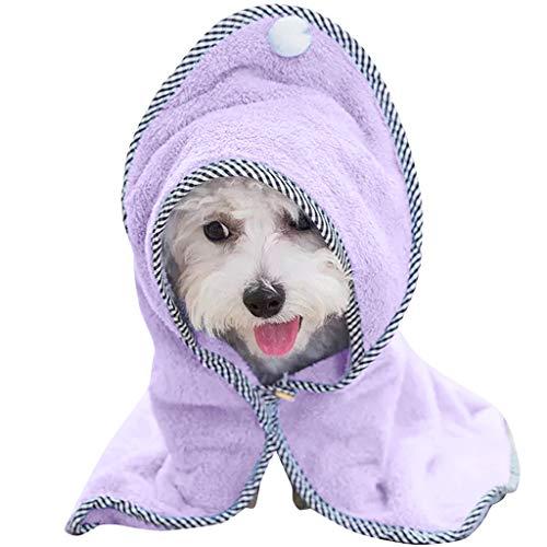 Huisdier badhanddoek hond kat badjas - Ultra absorberende huisdier zacht drogen bad badjas handdoek duurzaam voorkomen modder Dirt met hoek vleugels