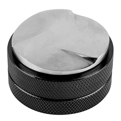 TOPINCN Sabotowanie kawy ze stali nierdzewnej inteligentny dystrybutor espresso, narzędzie poziomujące 58 mm podstawa z antypoślizgowymi trzyczęściowymi stokami (czarny)
