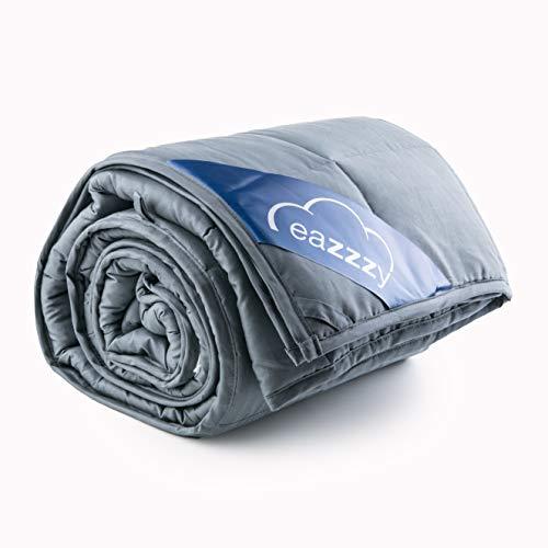 Genius eazzzy Gewichtsdecke 135x200 cm 10kg - Therapiedecke mit Glasperlen für Erwachsene gegen Schlafstörung Anti Stress - Bettwäsche schwer Weighted Blanket besseres Schlafen