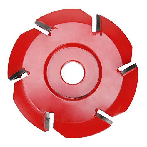 Xuqiang 90mm borde 6 dientes de madera talla de disco plano tungsteno molinillo de carburo fresado cortador pulido de pulido rueda de conformidad para un molinillo de ángulo Herramientas manuales de c
