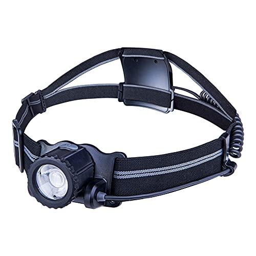 AONIJIE Antorcha de cabeza LED recargable USB (3000 mAh) con 300 lúmenes, ajuste giratorio de 90°, 3 modos de luz para correr, caminar, ciclismo, pesca, camping