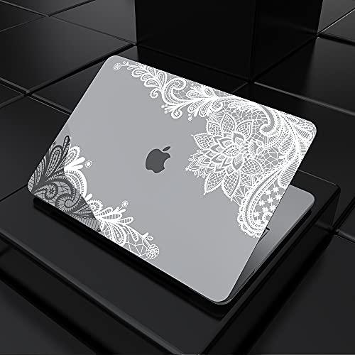 SDH Funda de 13 pulgadas 2020 MacBook Pro: A2338 M1 A2289 A2251 A2159 A1989 A1706 A1708, funda para ordenador portátil y funda de teclado kit 4 en 1, encaje plateado metálico 4