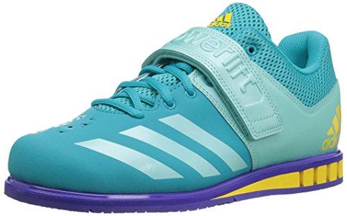 adidas Women's Powerlift.3.1 w Cross Trainer, Blue/Energy Aqua/Noble Ink, 12.5 Medium US