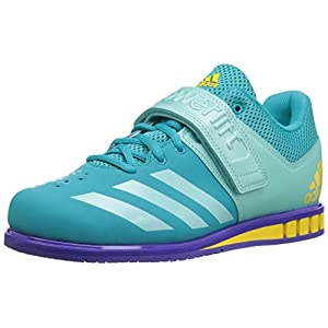 adidas Women s Powerlift 3 1W Cross Trainer Shoes, Blue 15 Medium US