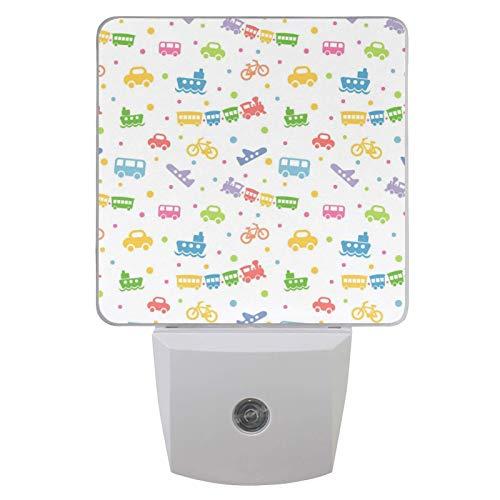 Luz LED para la noche con sensor automático del atardecer al amanecer (1 paquete), coche de juguete