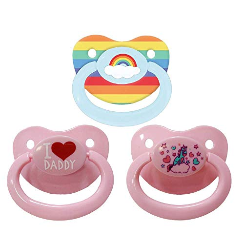 Littletude Pacifier Variety Pack  Rainbow Daddy Unicorn