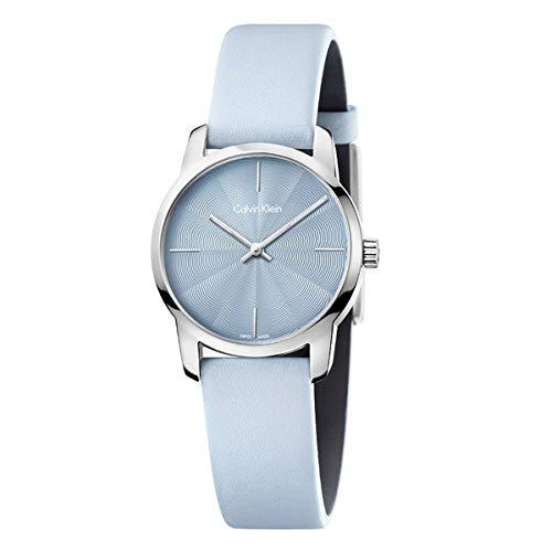 Casual K2G231VN Calvin Klein - Reloj analógico de Cuarzo para Mujer, Esfera Azul