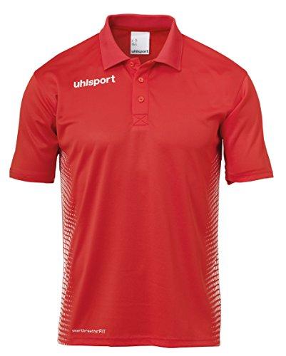 uhlsport Erwachsene Score Polo Shirt T, rot/Weiß, XL