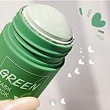 El té verde purificante de arcilla máscara facial de limpieza profunda palillo de control aceites anti-acné Máscara sólido, berenjena hidratante removedor de la espinilla Cuidado de la piel cubierta