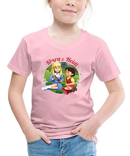 Spreadshirt Heidi Klara & Heidi Freundschaft Kinder Premium T-Shirt, 110-116, Hellrosa