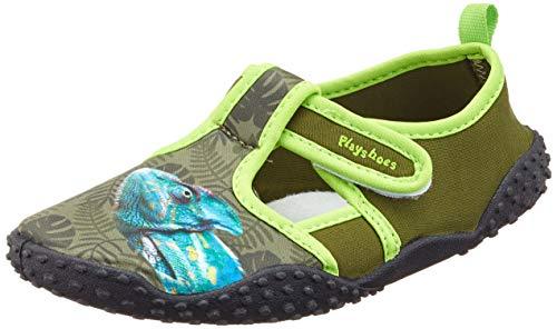 Playshoes Jungen Unisex Kinder UV-Schutz Badeschuhe Chamäleon Aqua Schuhe, Grün (Oliv 34), 26/27 EU