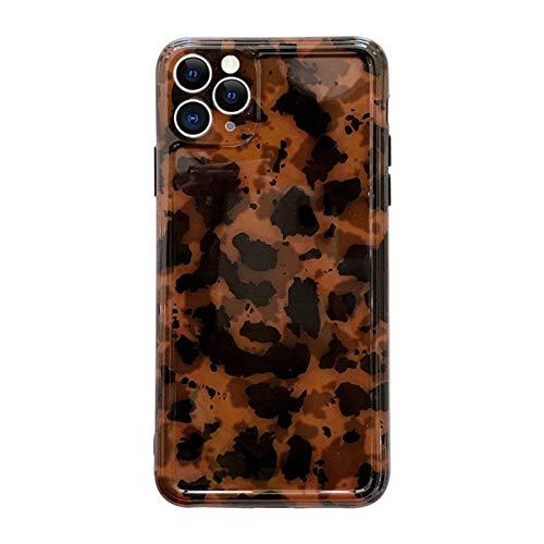 Caso retro del teléfono de la tortuga para el iPhone 11 Pro Max 6.5 pulgadas Chic Clásico Suave Delgado Protectora Mujeres Niñas Lujo Concha Trasera (iPhone 11 Pro Max)