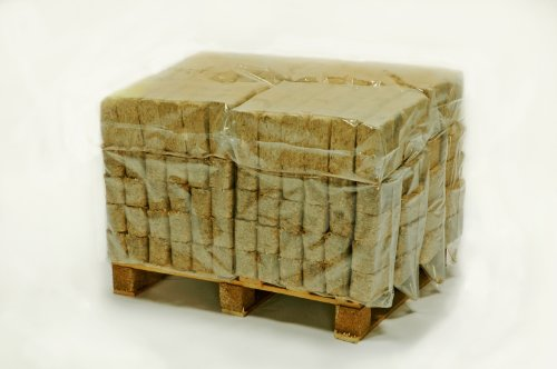 Hotblocks Great British Made Sustainable Wood fuel....1/4 Pallet of 288 Briquettes (240kg) for use in woodburners, wood ovens, log boilers, chimeneas, firepits & open fires. Comprises 12 packs each containing 24 briquettes.