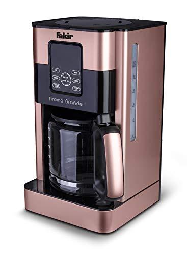 Fakir Aroma Grande / Kaffeemaschine, Filterkaffeemaschine mit Glaskanne, mit Touch-Display, Wasserstandsanzeige, bis zu 12 Tassen, rosé - 1000 Watt