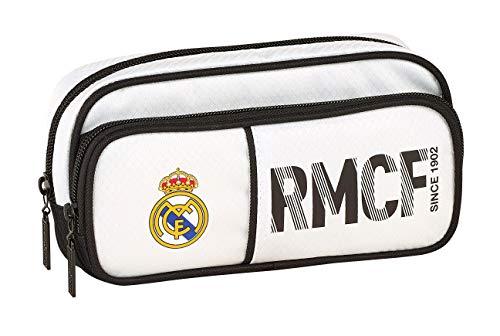 Real Madrid Equipaje para niños, Unisex, Blanco, 21 cm